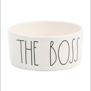 New Rae Dunn THE BOSS pet dog bowl